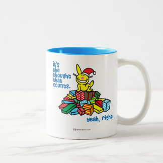 It's The Thought That Counts Two-Tone Coffee Mug