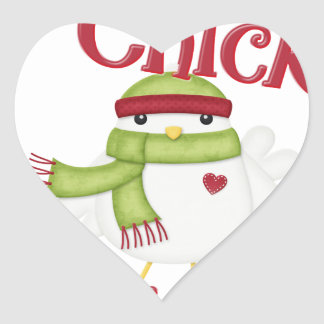 It's This Chick's 1st Christmas Heart Sticker