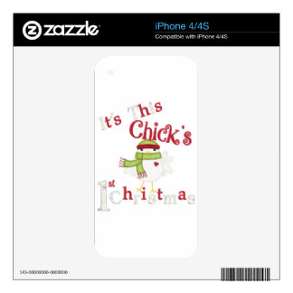 It's This Chick's 1st Christmas iPhone 4 Decal