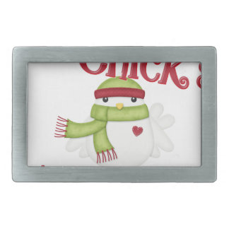 It's This Chick's 1st Christmas Rectangular Belt Buckle