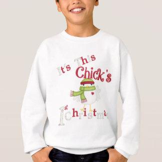 It's This Chick's 1st Christmas Sweatshirt