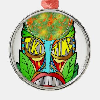 It's Tiki Time Metal Ornament