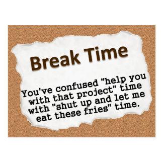 It's time for a break (2) postcard