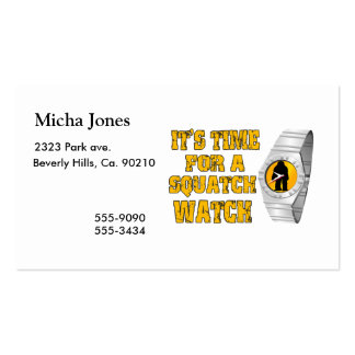 It's Time For A Squatch Watch Double-Sided Standard Business Cards (Pack Of 100)