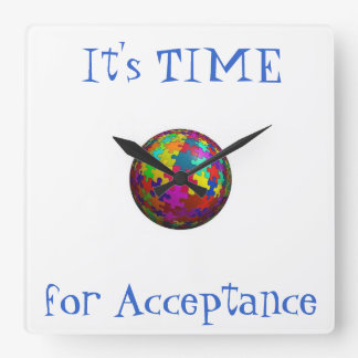 It's Time for Acceptance Autism Clock