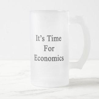 It's Time For Economics Glass Beer Mug