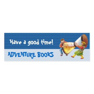 It's time for fun bookmark for young books lovers! mini business card