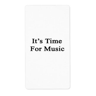 It's Time For Music Personalized Shipping Label