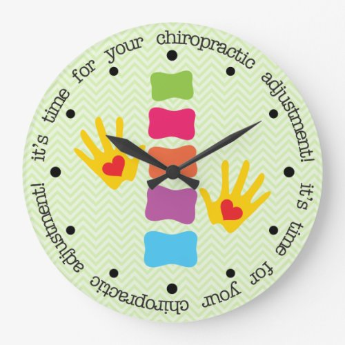 It's Time For Your Chiropractic Adjustment Clock