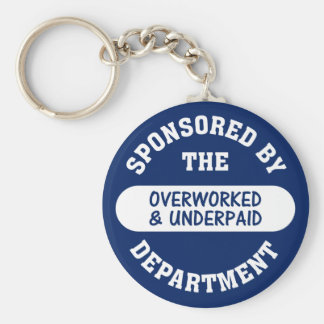 It's time the overworked & underpaid got raises basic round button keychain