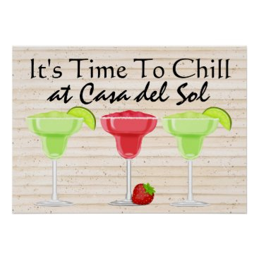 Beach Themed It's Time to CHILL Poster