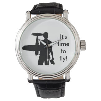 It's time to fly! wrist watch