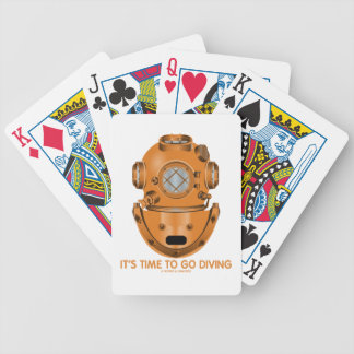 It's Time To Go Diving (Deep Sea Diving Helmet) Bicycle Playing Cards