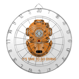 It's Time To Go Diving (Deep Sea Diving Helmet) Dart Board