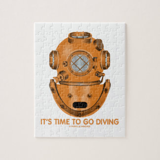 It's Time To Go Diving (Deep Sea Diving Helmet) Jigsaw Puzzle