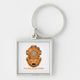 It's Time To Go Diving (Deep Sea Diving Helmet) Key Chain