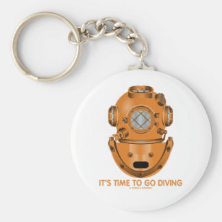 It's Time To Go Diving (Deep Sea Diving Helmet) Keychains