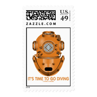 It's Time To Go Diving (Deep Sea Diving Helmet) Postage