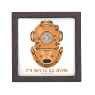 It's Time To Go Diving (Deep Sea Diving Helmet) Premium Keepsake Boxes