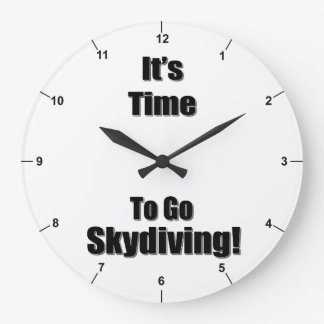 It's Time To Go Skydiving! clock