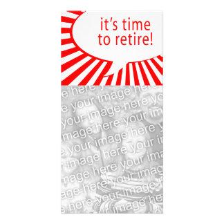 it's time to retire! (comic bubble) custom photo card