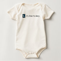 """""""It's Time To Sleep"""" Whimsical Moon Pattern ~ Baby Bodysuit"""