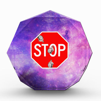its time to stop filthy frank stop sign galaxy acrylic award