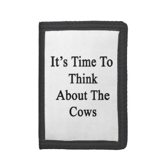 It's Time To Think About The Cows Trifold Wallets