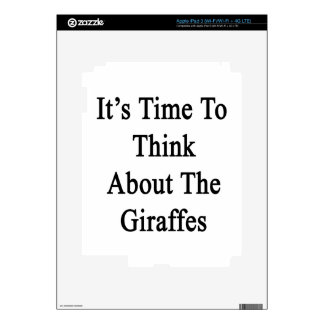 It's Time To Think About The Giraffes iPad 3 Skins