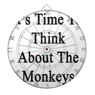 It's Time To Think About The Monkeys Dartboard