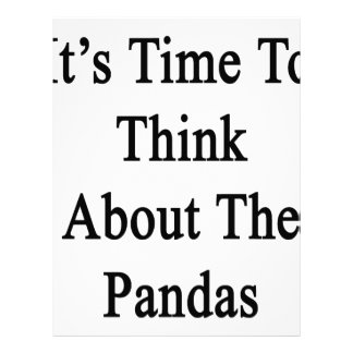 It's Time To Think About The Pandas Letterhead