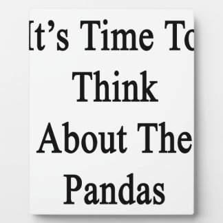 It's Time To Think About The Pandas Plaque