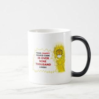 it's to over nine thousand magic mug
