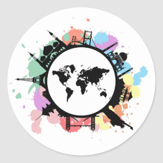 It's travel time classic round sticker