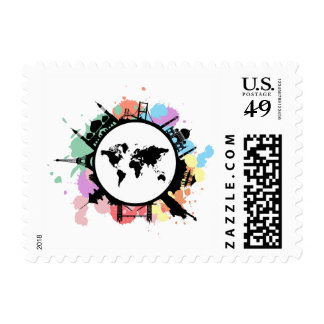It's travel time postage stamp