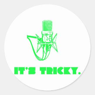 It's Tricky Classic Round Sticker