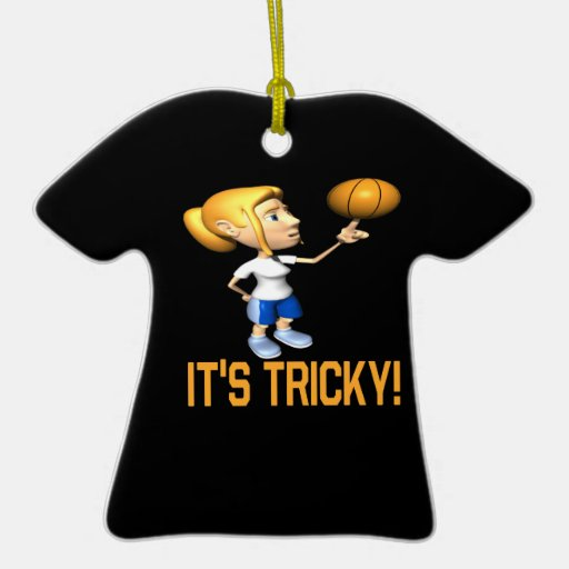 Its Tricky Double-Sided T-Shirt Ceramic Christmas Ornament