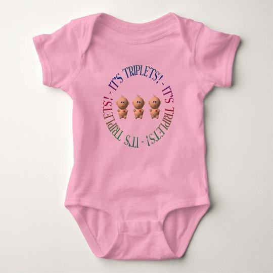 It's triplets! baby bodysuit