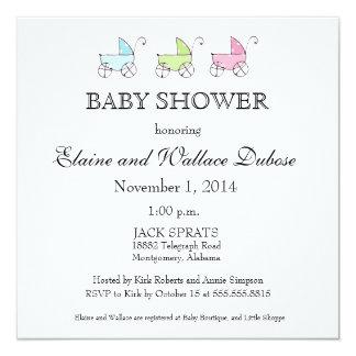 It's Triplets Baby Shower Card