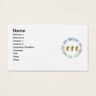 It's triplets! business card