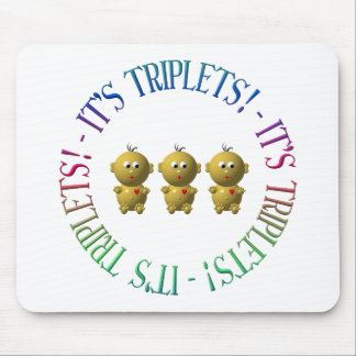 It's triplets! mouse pad