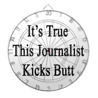It's True This Journalist Kicks Butt Dartboard With Darts