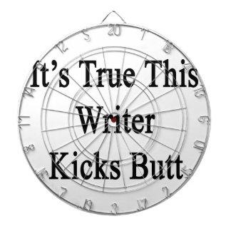 It's True This Writer Kicks Butt Dart Boards