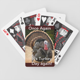 It's Turkey Day Again playing cards