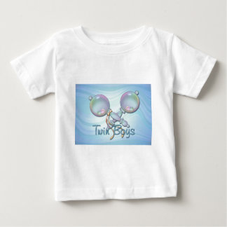 IT'S TWIN BOYS BABY RATTLE by SHARON SHARPE Baby T-Shirt
