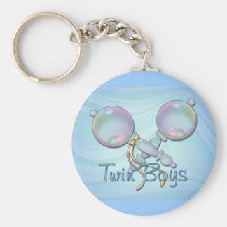 IT'S TWIN BOYS BABY RATTLE by SHARON SHARPE Keychain