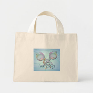 IT'S TWIN BOYS BABY RATTLE by SHARON SHARPE Mini Tote Bag
