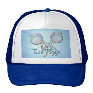 IT'S TWIN BOYS BABY RATTLE by SHARON SHARPE Trucker Hat