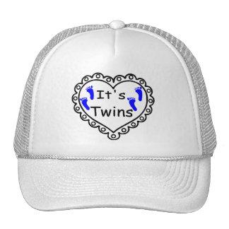 Its Twin Boys Hearts Trucker Hat