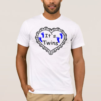 Its Twin Boys Hearts T-Shirt